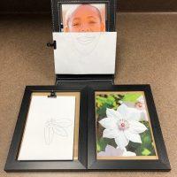 natural photo frame mirror