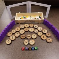 numbers on wooden chips