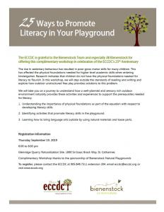 Snapshot of flyer for Bienenstock event