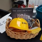 Lego Architect book with childrens hardhat